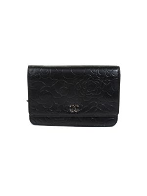 Lambskin Camellia Wallet On Chain by Chanel - Le Dressing Monaco