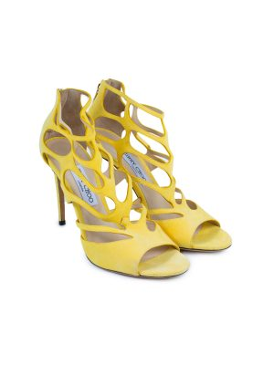 Ren Cutout Suede Sandals by Jimmy Choo - Le Dressing Monaco