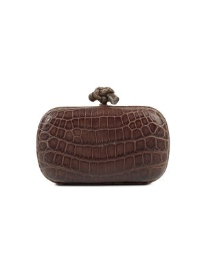 Crocodile Skin Knot Clutch by Bottega Veneta - Le Dressing Monaco