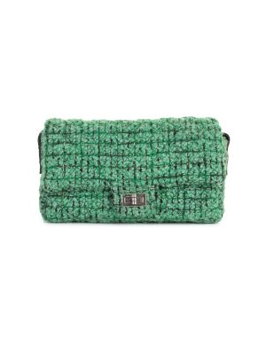 Green Tweed Crossbody Flap Bag by Chanel - Le Dressing Monaco