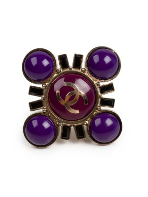 Faux Pearl Purple Ajustable Ring by Chanel - Le Dressing Monaco
