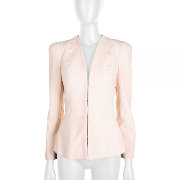Light Pink Zipped Jacket by Alexander McQueen - Le Dressing Monaco