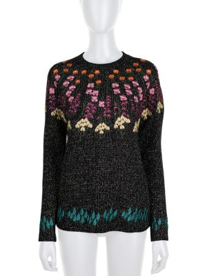 Lurex Flower Embroidered Pullover by Valentino - Le Dressing Monaco
