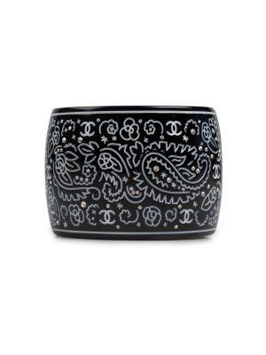 Black Crystal Resin Cuff by Chanel - Le Dressing Monaco