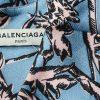 Blue Pink High Low Silk Blouse by Balenciaga - Le Dressing Monaco