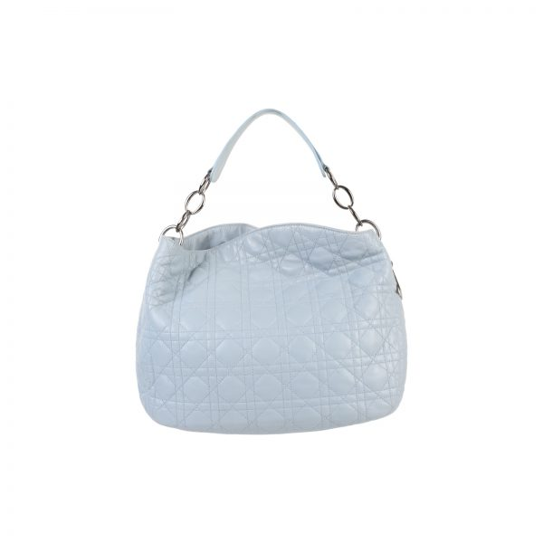 Blue Leather Cannage Hobo Bag by Christian Dior - Le Dressing Monaco