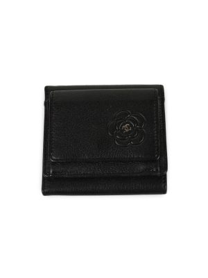 Camellia Embossed Bi-Fold Wallet by Chanel - Le Dressing Monaco