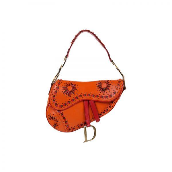 Orange Trotter Saddle Hand Bag by Christian Dior - Le Dressing Monaco