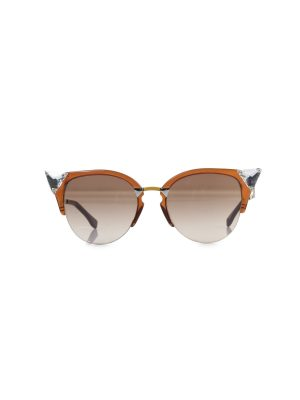 Brown Crystal Embellished Sunglasses by Fendi - Le Dressing Monaco