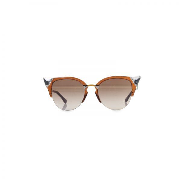 Brown Crystal Embellished Sunglasses by Fendi - Le Dressing Monaco