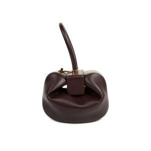 Bordeaux Calf Leather Nina Bag by Gabriela Heart - Le Dressing Monaco