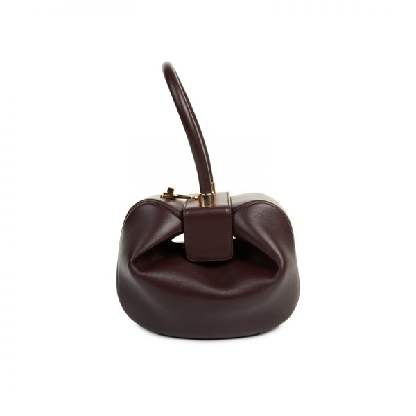 Bordeaux Calf Leather Nina Bag by Gabriela Heart - Le Dressing Monaco